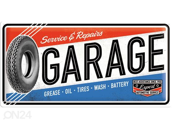 Retro metallijuliste SERVICE & REPAIR GARAGE 25x50 cm SG-78404