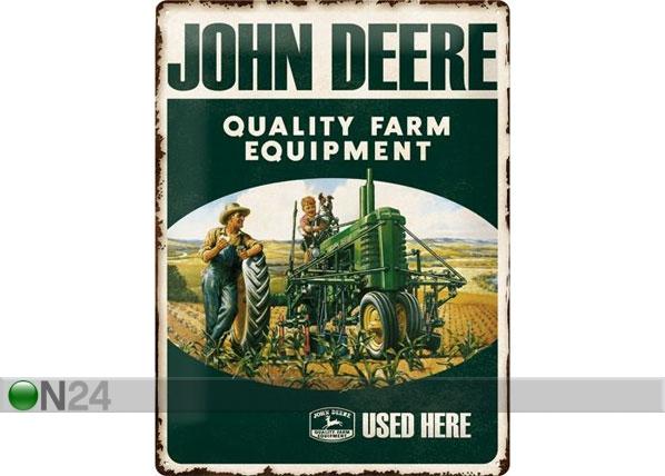 Retrotyylinen metallijuliste JOHN DEERE FARM EQUIPMENT 30x40 cm SG-78432