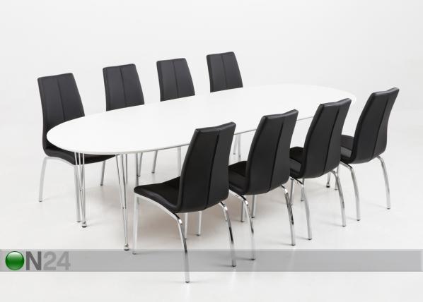 Jatkettava ruokapöytä CARINA 100x170-270 cm CM-79676