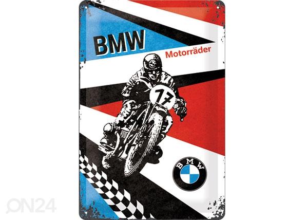 Retrotyylinen metallijuliste BMW MOTORRÄDER 20x30 cm SG-80068