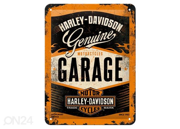 Retrotyylinen metallijuliste HARLEY-DAVISON GARAGE 15x20 cm SG-80663