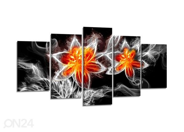 Viisiosainen seinätaulu TULIKUKKA 200x100 cm ED-80905