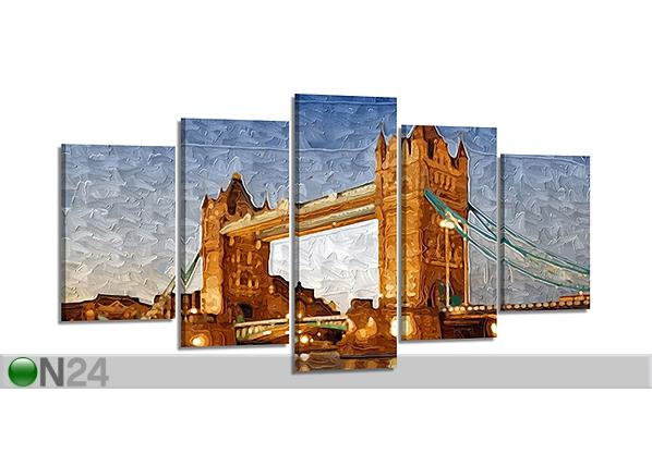 Viisiosainen seinätaulu LONDON 200x100 cm ED-80913
