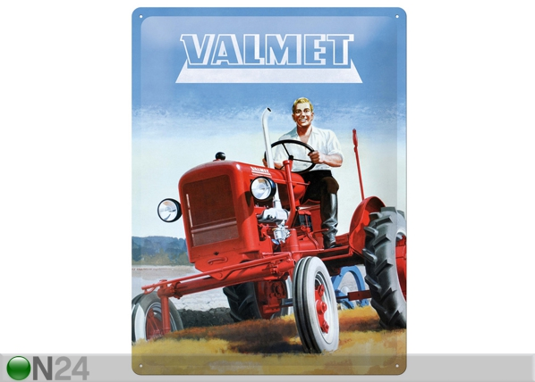 Retrotyylinen metallijuliste VALMET 30x40 cm SG-81121