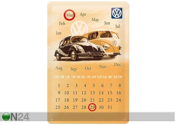 Retrotyylinen metallijuliste VW DER VOLKSWAGEN 20x30 cm SG-82359