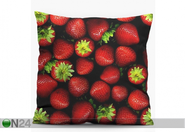 Koristetyyny STRAWBERRIES 38x38 cm CX-82524