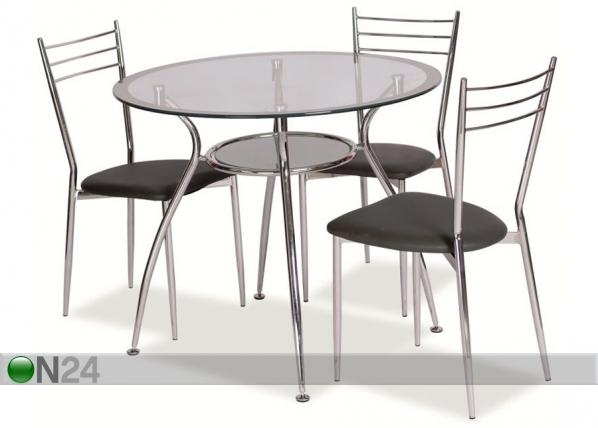 Ruokapöytä FINEZJA Ø 90 cm WS-83998