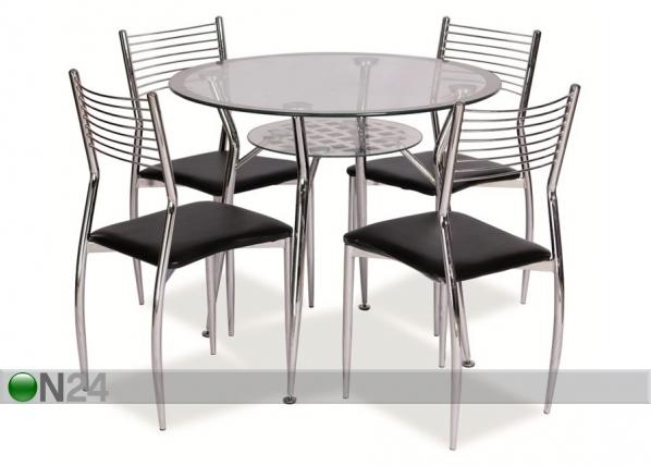 Ruokapöytä MOLAR Ø 90 cm WS-84044