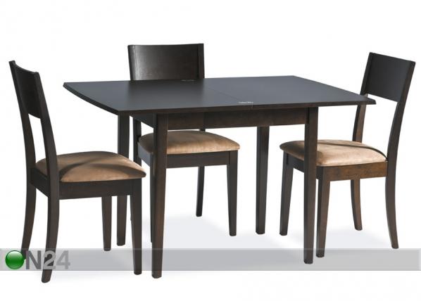 Jatkettava ruokapöytä EASY 80x60-120 cm WS-84118