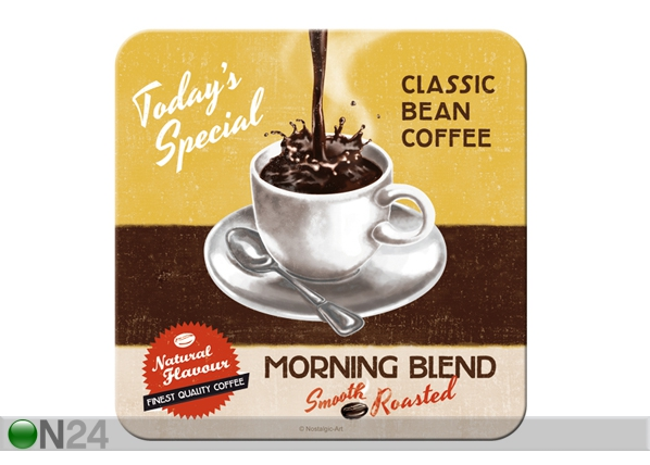 Retro lasinalusta MORNING BLEND 4 kpl SG-84331