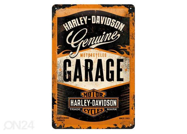 Retro metallijuliste HARLEY-DAVISON GARAGE 20x30 cm SG-84337