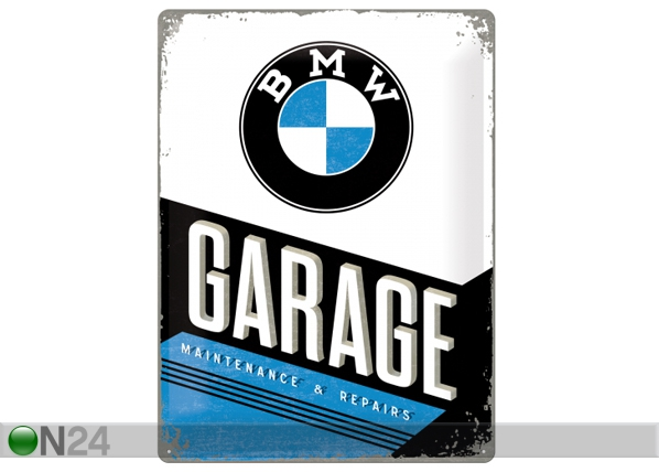 Retro metallijuliste BMW GARAGE 30x40 cm SG-84349