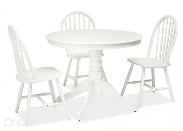 Ruokapöytä WINDSOR Ø 100 cm WS-84390