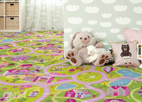 Lastenhuoneen matto HAUSKA KAUPUNKI AF-84500