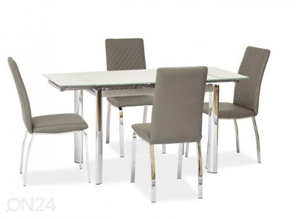 Jatkettava ruokapöytä 70x100-150 cm WS-84682