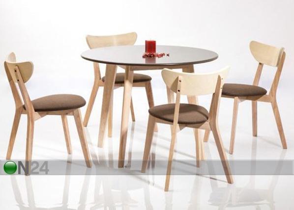 Ruokapöytä HELSINKI Ø 100 cm WS-85271