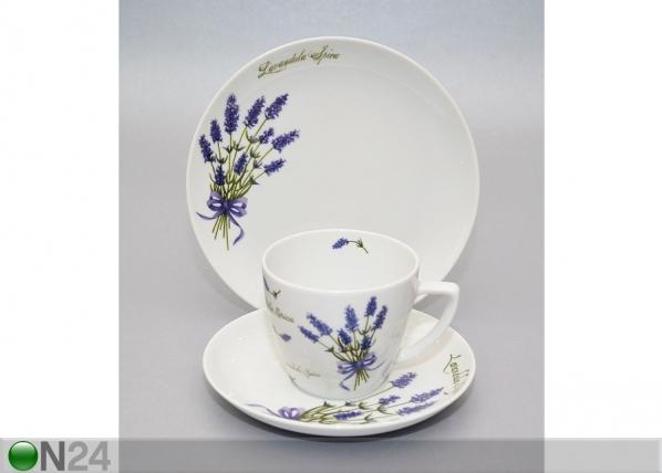Kahvikuppi ja lautaset LAVENTELI NN-85609