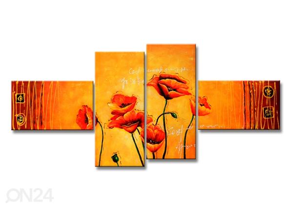 Neljäosainen seinätaulu UNIKOT 160x70 cm ED-86579