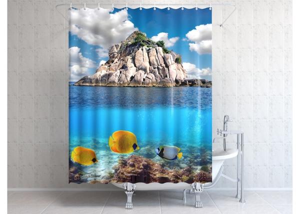 Suihkuverho 3D ROCK OCEAN AÄ-86602