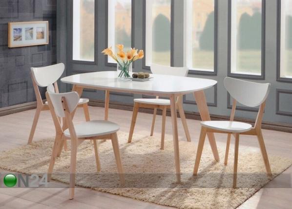 Ruokailuryhmä RENATA-O, pöytä + 4 tuolia BL-87769