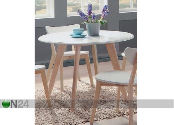 Ruokapöytä RENATA-O Ø 105 cm BL-87771