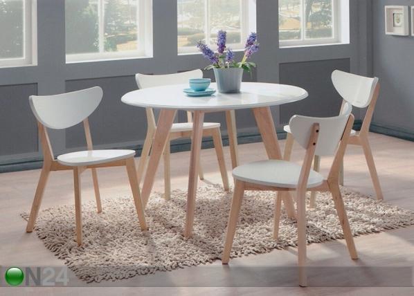 Ruokailuryhmä RENATA-P, pöytä + 4 tuolia BL-87773