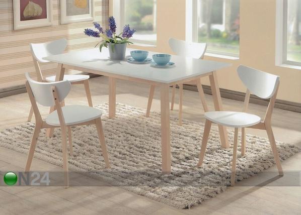 Ruokailuryhmä RENATA-S, pöytä + 4 tuolia BL-87777