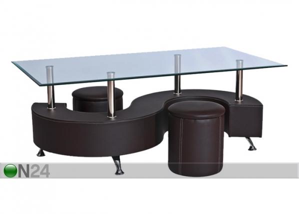 Sohvapöytä+2 rahia HUGO WS-87809