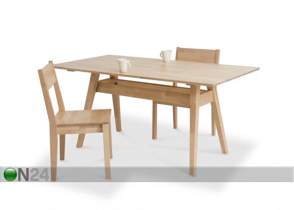 Ruokapöytä NOTTE, koivu KT-87901