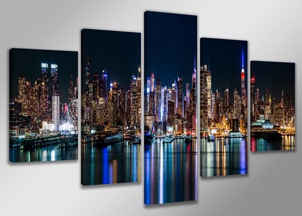 Viisiosainen seinätaulu NEW YORK 200x100 cm ED-88845