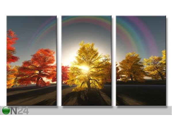 Kolmeosainen seinätaulu PUUT 160x90 cm ED-88883
