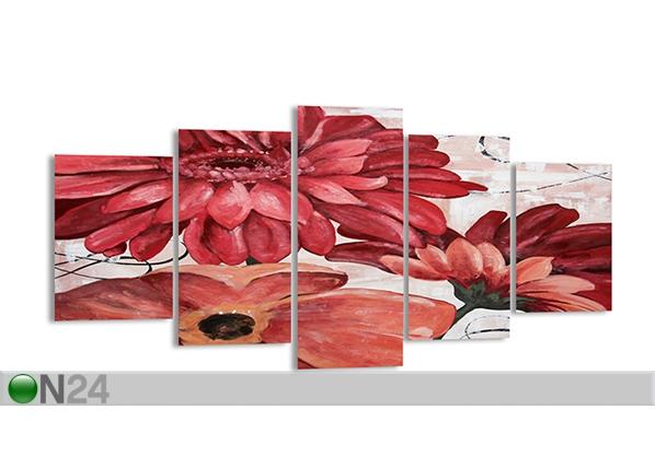 Viisiosainen seinätaulu KUKKA 200x100 cm ED-89314