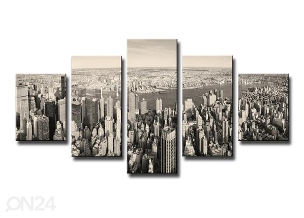 Viisiosainen seinätaulu NEW YORK 100x50 cm ED-89546