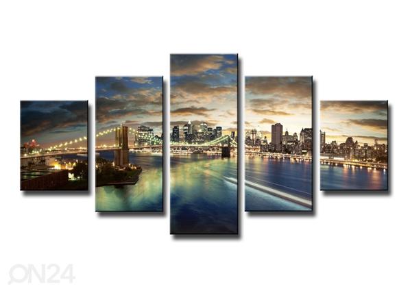 Viisiosainen seinätaulu NEW YORK ED-89560
