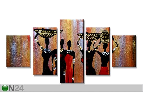 Viisiosainen seinätaulu AFRIKKA 160x80 cm ED-89563
