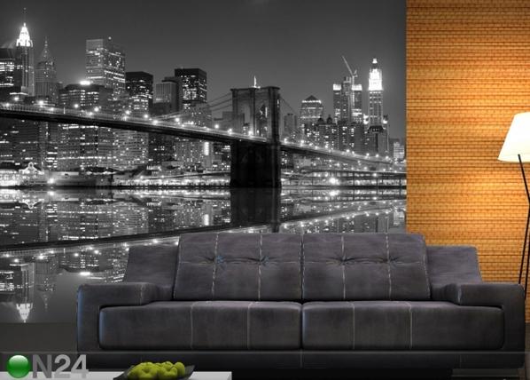 Fleece kuvatapetti NEW YORK IN BLACK AND WHITE 360x270 cm ED-90571