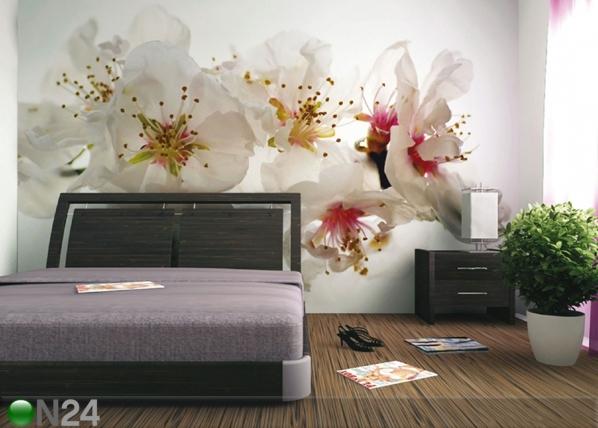 Fleece-kuvatapetti PINK FLOWERS 360x270 cm ED-90666