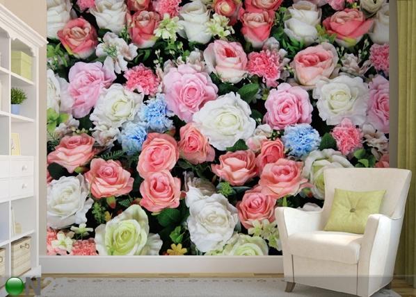 Fleece-kuvatapetti COLORFUL FLOWERS 360x270 cm ED-90667