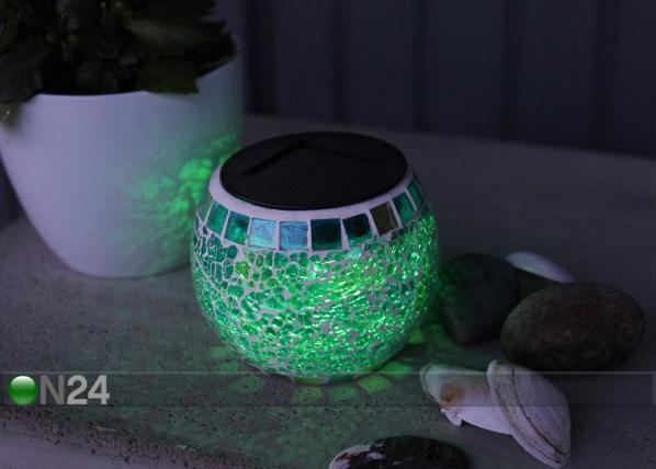 Väriä muuttava LED lyhty aurinkoenergialla AA-90669