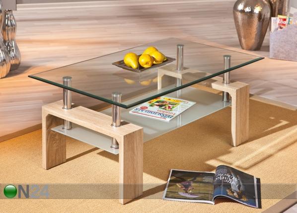 Sohvapöytä lasitasoilla LOANA AY-90819