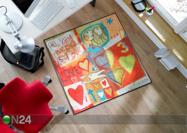 Matto LOVE 115x115 cm A5-90876