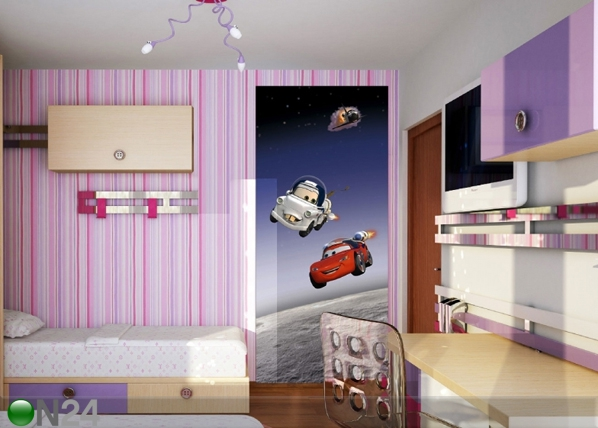 Fleece kuvatapetti DISNEY CARS IN SPACE 90x202 cm ED-90938