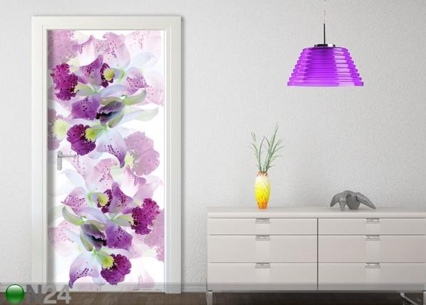 Fleece kuvatapetti WHITE FLOWERS 90x202 cm ED-91150