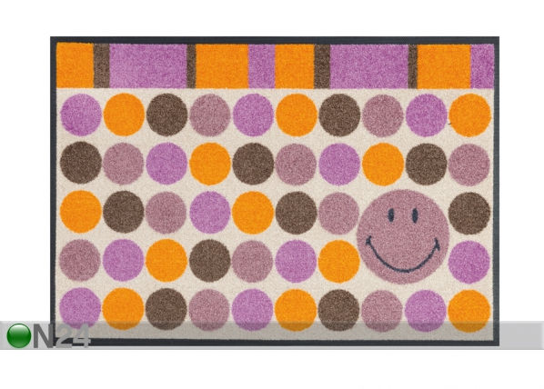 Matto SMILEY DOTS 50x75 cm A5-91527