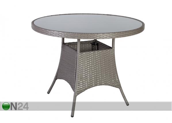 Puutarhapöytä HAMPTON Ø 100 cm EV-91681