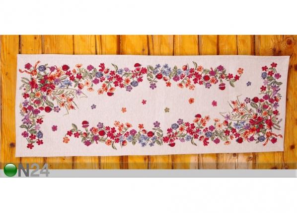 Globeliinikangas pöytäliina LEPPÄKERTUT 36x100 cm TG-92091