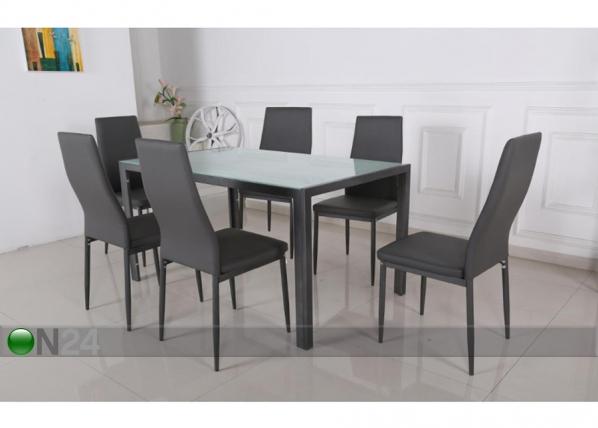 Ruokapöytä ARRAS + 6 tuolia AQ-92834