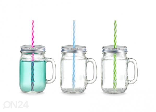 Juomapullo+pilli 470 ml GB-94110