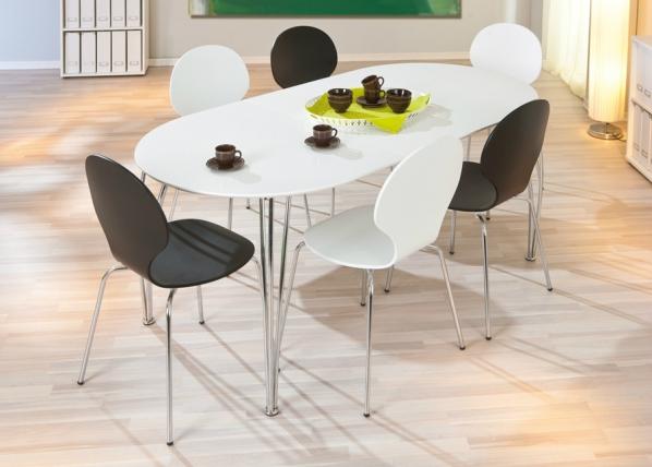 Jatkettava ruokapöytä OVALI 90x140-180 cm AY-94485