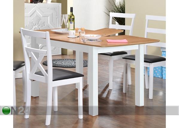 Jatkettava ruokapöytä BIRMINGHAM 120/150x90 cm AQ-95388